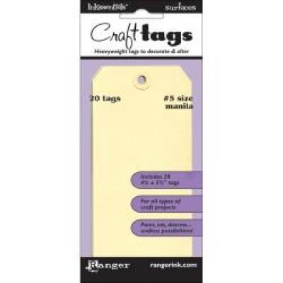 "Inkssentials  - Craft Tag 4'' 3/4 X 2 3/8"" 20/Pkg"