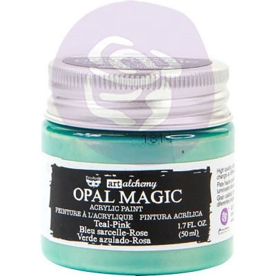 Finnabair Art Alchemy - Peinture acrylique «Opal Magic» couleur «Teal-Pink»  1.7 oz