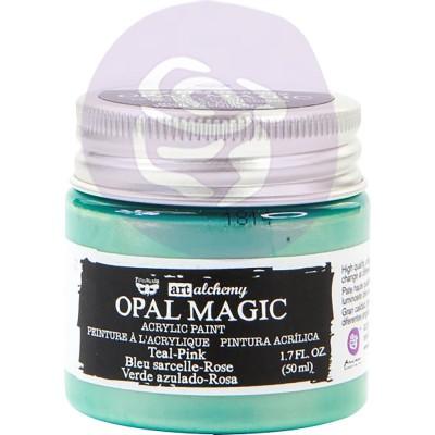 Finnabair Art Alchemy - Peinture acrylique «Opal Magic» couleur «Teal/Pink»  1.7 oz