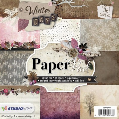 "Studio Light - Bloc de papier «Winter Days» 6"" X 6""  36 feuilles"