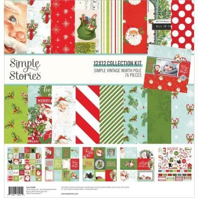 """Simple Stories - Ensemble de papier «North Pole» 12 """"X12"""" recto-verso 12 feuilles / Pqt"""