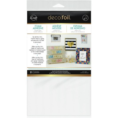 "Deco Foil «Foam Adhesive Sheet White» 6""X12"" 2/Pkg"
