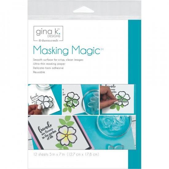 "Gina K. Design - «Masking Magic»  pqt de 12  5"" X 7"""