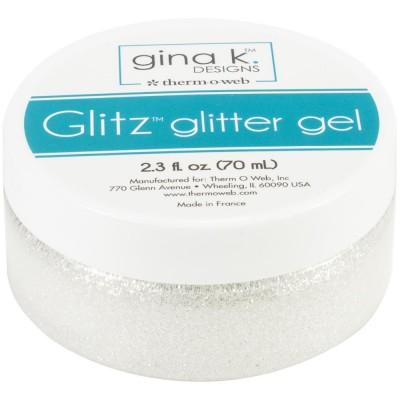 Gina K Designs - Pâte brillante «Glitz Glitter Gel» couleur «White» 2.3oz