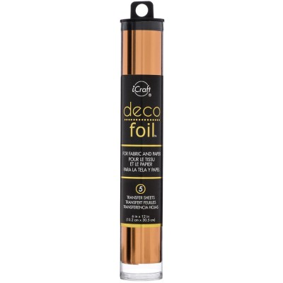 Icraft - Deco foil transfert sheets couleur «Copper» 5/pqt