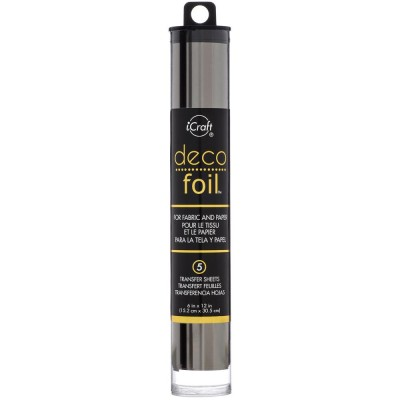 "Deco Foil «Transfer Sheets Pewter 6""X12""» 5/Pkg"