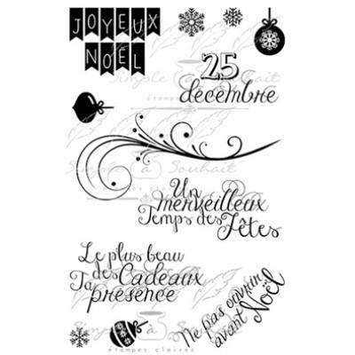 Simple à souhait - Estampes «Joyeux Noël #2»