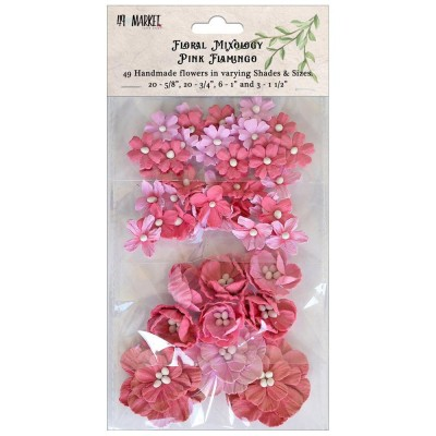 """49 & Market - Market Floral Mixology 49 pièces couleur """"Pink Flamingo"""""""