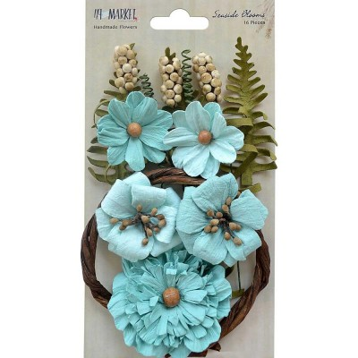 "49 & Market - Seaside Blooms 1.5""-2.25""  «Sea Breeze» 16/Pkg"