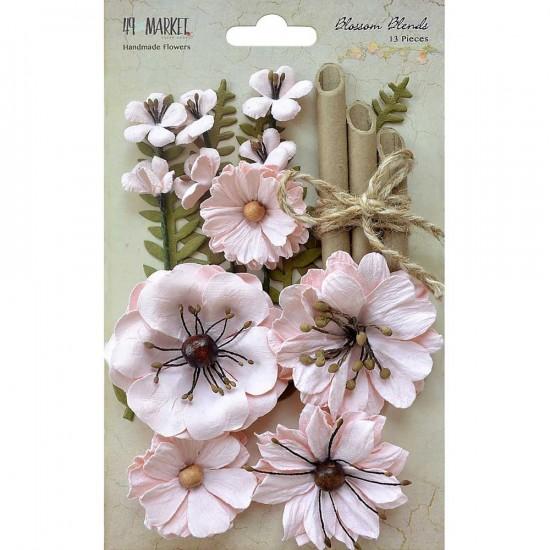 """49 & Market - Blossom Blends «Naturel Blush» 2.5"""" 13/Pkg"""