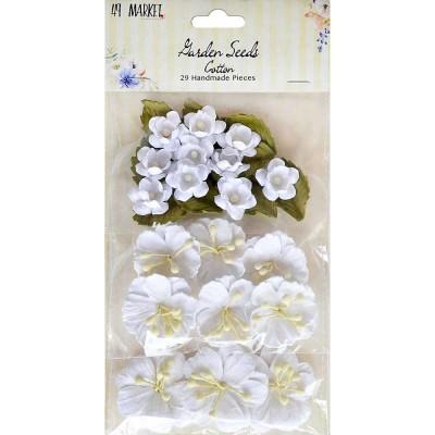 """49 & Market - Garden Seeds «Cotton» paquet de 29 taille variant entre .75"""" et 1.5"""""""