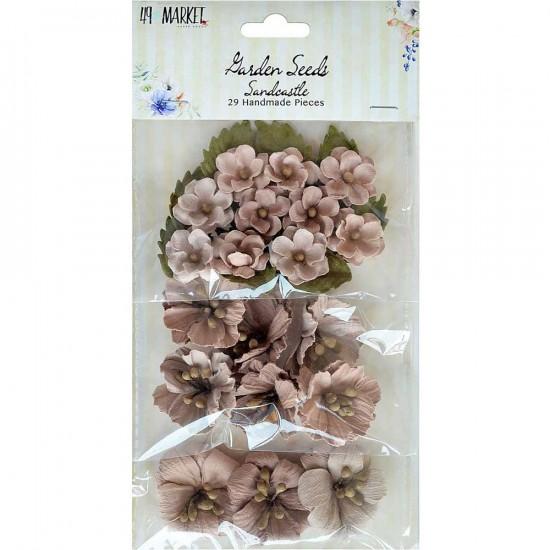 49 & Market - Garden Seeds «Sandcastle» paquet de 29 fleurs