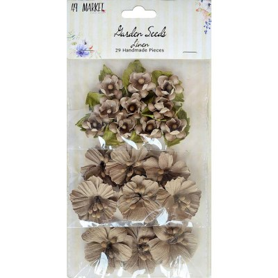 """49 & Market - Garden Seeds «Linen» paquet de 29 taille variant entre .75"""" et 1.5"""""""