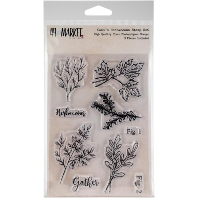 49 & Market - Clear Stamps «Gabi's Herbaceous» paquet 9