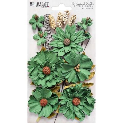 49 & Market - Botanical Blends 23 pièces couleur «Bottle Green»