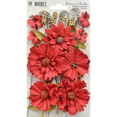 "49 & Market - Blossom Blends 2.5"" 13/Pkg couleur «Grenadine»"