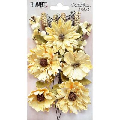 "49 & Market - Botanical Blends 2.5"" 23/Pkg «Yellow»"
