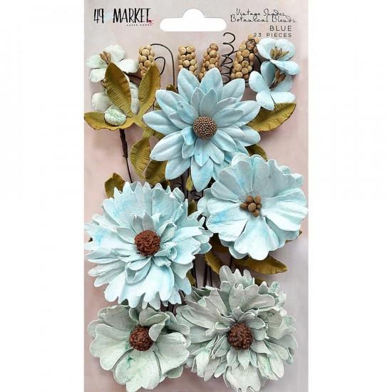 """49 & Market - Botanical Blends 2.5"""" 23/Pkg «Blue»"""
