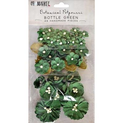 49 & Market - Collection «Botanical Potpourri» couleur «Bottle Green» 49 pcs