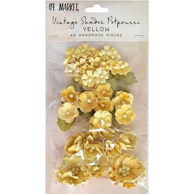 49 & Market - Collection «Vintage Shades Potpourri» couleur «Yellow» 49 pcs