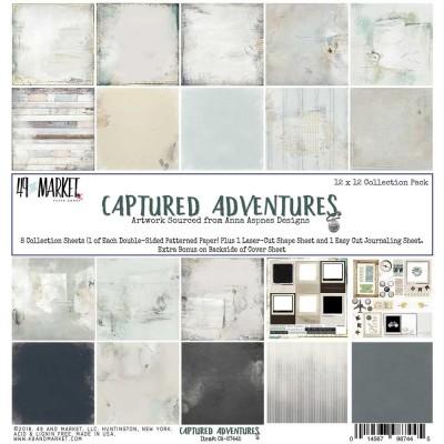 """49& Market  - bloc de papier collection «Captured Adventures» 12 X 12"""""""
