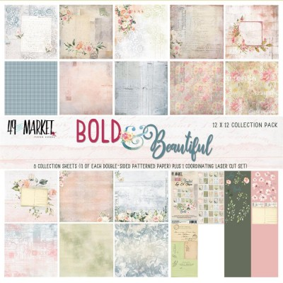 49& Market  - bloc de papier collection «Bold & Beautiful» 12 X 12""
