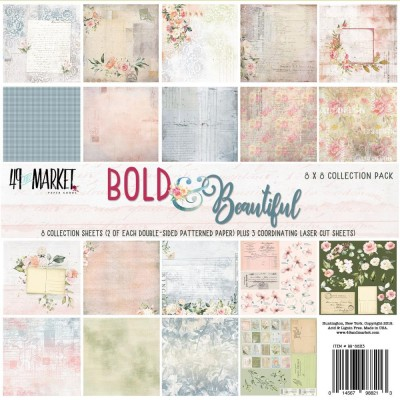 "49& Market  - bloc de papier collection «Bold & Beautiful» 8"" X 8"""