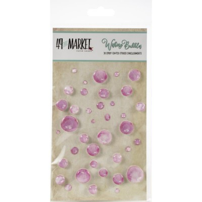 49 & Market - Embellissement Epoxy «Bubblegum» 38 / paquet