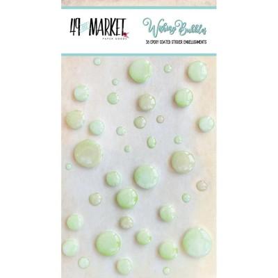 49 & Market - Embellissement Epoxy «Limeade» 38 / paquet