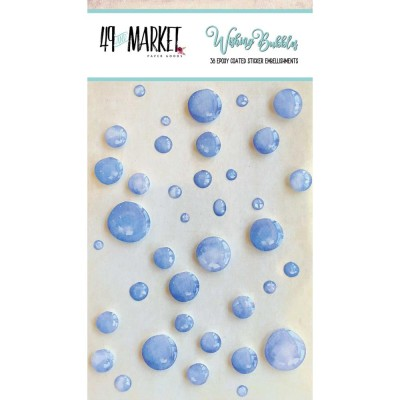 49 & Market - Embellissement Epoxy «Blueberry» 38 / paquet