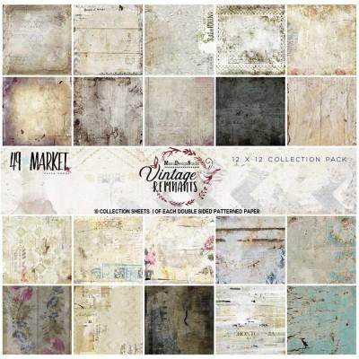 """49& Market  - bloc de papier collection «Vintage Remnants» 12 X 12"""""""