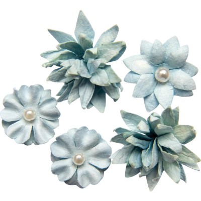 49 & Market - Collection «Flower mini » couleur «Sky»