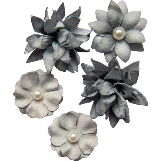 49 & Market - Collection «Flower mini »couleur «Storm»