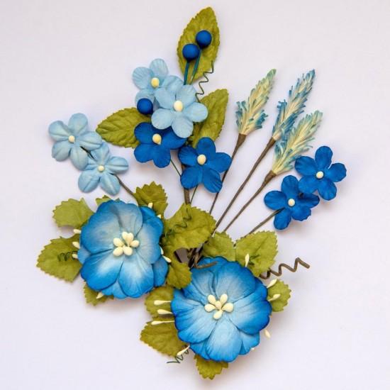 49 & Market - Collection «Wildflowers» couleur «Cobalt»