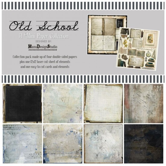 49& Market  - bloc de papier collection «Old School» 12 X 12""