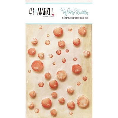 49 & Market - Embellissement Epoxy «Crush» 38 / paquet