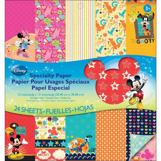 "EK Success - «Mickey Family» ensemble de papier 24 feuilles 12"" X 12"""