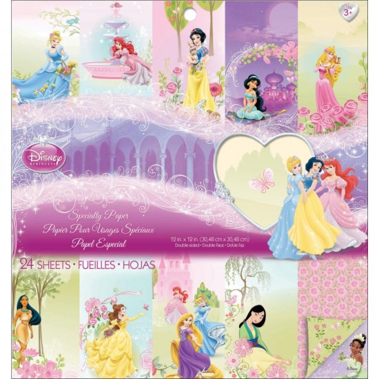 "EK Success - «Princess» ensemble de papier 24 feuilles 12"" X 12"""