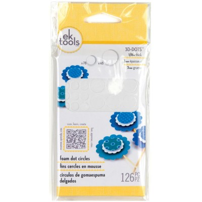 "EK Tools 3D Dots Foam Dot 1/8""  Round 126 pc"