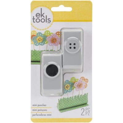 "EK Tools - Poinçons format mini «Button & Holes 2/3""»"
