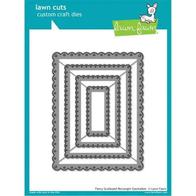LAWN FAWN: Die - «Fancy Scalloped Rectangle» 4 pièces