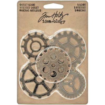 Tim Holtz: Idea-Ology «Antique Nickel, Brass & Copper» ensemble 5 pièces