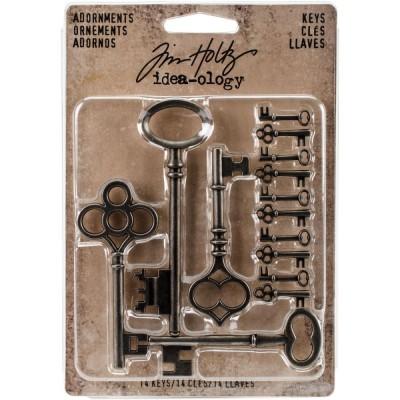 Tim Holtz - Idea-Ology «Clés» ensemble de 14 pièces