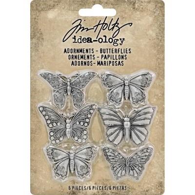 Tim Holtz - Idea-Ology «Butteflies» ensemble de 6 pièces