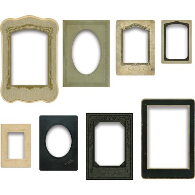 Tim Holtz - Chipboard  et Éphéméras «Baseboard Frames» 8 pc