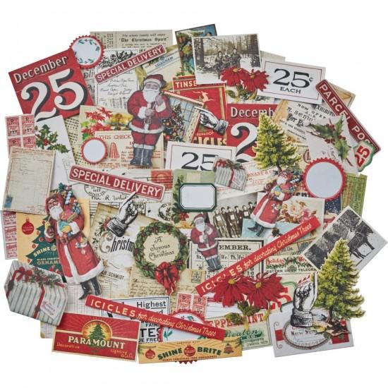 Tim Holtz - «Christmas Snippets » paquet Ephemera  86 pièces