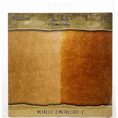 "Tim Holtz - Bloc de papier «Metallic 2» 8"" X 8"" 36 feuilles"