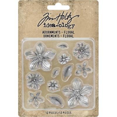 Tim Holtz - Idea-Ology «Floral» ensemble de 12 pièces