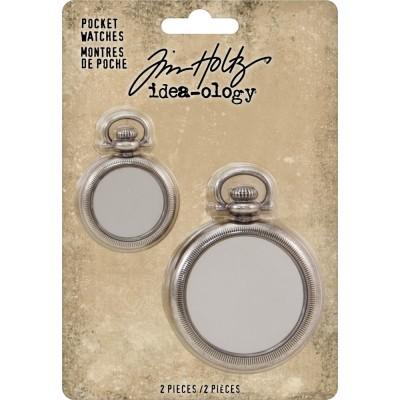 Tim Holtz - Idea-Ology «Pocket Watch» ensemble de 2 pièces