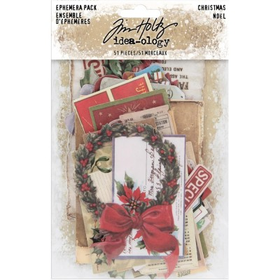 Tim Holtz - «Idea-Ology Ephemera Pack» «Christmas »  51 pièces